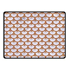Scales3 White Marble & Rusted Metal (r) Fleece Blanket (small) by trendistuff