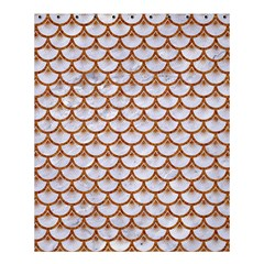Scales3 White Marble & Rusted Metal (r) Shower Curtain 60  X 72  (medium)  by trendistuff