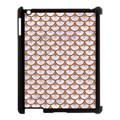 Scales3 White Marble & Rusted Metal (r) Apple Ipad 3/4 Case (black) by trendistuff