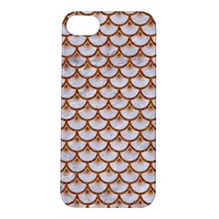 Scales3 White Marble & Rusted Metal (r) Apple Iphone 5s/ Se Hardshell Case by trendistuff