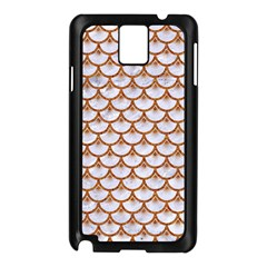 Scales3 White Marble & Rusted Metal (r) Samsung Galaxy Note 3 N9005 Case (black) by trendistuff