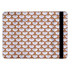 Scales3 White Marble & Rusted Metal (r) Samsung Galaxy Tab Pro 12 2  Flip Case by trendistuff