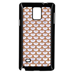 Scales3 White Marble & Rusted Metal (r) Samsung Galaxy Note 4 Case (black) by trendistuff