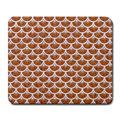 Scales3 White Marble & Rusted Metal Large Mousepads by trendistuff