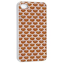 Scales3 White Marble & Rusted Metal Apple Iphone 4/4s Seamless Case (white) by trendistuff