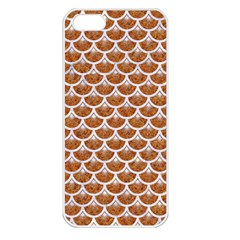 Scales3 White Marble & Rusted Metal Apple Iphone 5 Seamless Case (white) by trendistuff