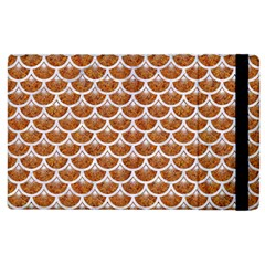 Scales3 White Marble & Rusted Metal Apple Ipad 3/4 Flip Case by trendistuff