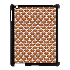Scales3 White Marble & Rusted Metal Apple Ipad 3/4 Case (black) by trendistuff
