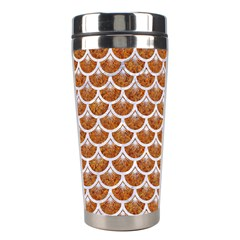 Scales3 White Marble & Rusted Metal Stainless Steel Travel Tumblers by trendistuff