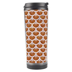 Scales3 White Marble & Rusted Metal Travel Tumbler by trendistuff
