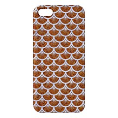 Scales3 White Marble & Rusted Metal Iphone 5s/ Se Premium Hardshell Case by trendistuff