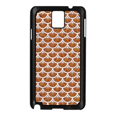Scales3 White Marble & Rusted Metal Samsung Galaxy Note 3 N9005 Case (black) by trendistuff