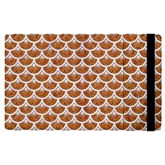 Scales3 White Marble & Rusted Metal Apple Ipad Pro 12 9   Flip Case by trendistuff