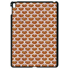 Scales3 White Marble & Rusted Metal Apple Ipad Pro 9 7   Black Seamless Case by trendistuff