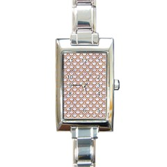 Scales2 White Marble & Rusted Metal (r) Rectangle Italian Charm Watch by trendistuff