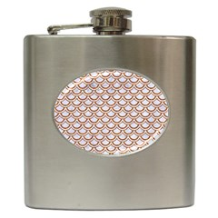 Scales2 White Marble & Rusted Metal (r) Hip Flask (6 Oz) by trendistuff