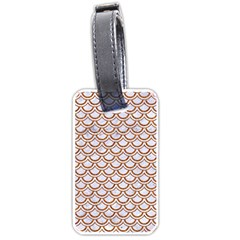 Scales2 White Marble & Rusted Metal (r) Luggage Tags (one Side)  by trendistuff