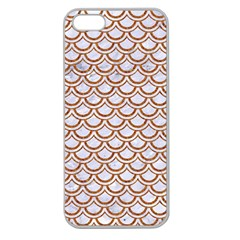 Scales2 White Marble & Rusted Metal (r) Apple Seamless Iphone 5 Case (clear) by trendistuff