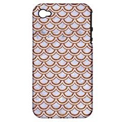 Scales2 White Marble & Rusted Metal (r) Apple Iphone 4/4s Hardshell Case (pc+silicone) by trendistuff