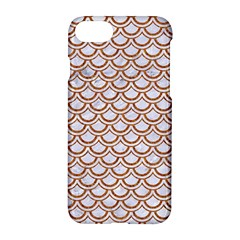 Scales2 White Marble & Rusted Metal (r) Apple Iphone 8 Hardshell Case by trendistuff