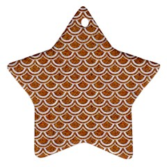 Scales2 White Marble & Rusted Metal Star Ornament (two Sides) by trendistuff