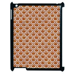 Scales2 White Marble & Rusted Metal Apple Ipad 2 Case (black) by trendistuff