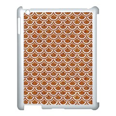 Scales2 White Marble & Rusted Metal Apple Ipad 3/4 Case (white) by trendistuff