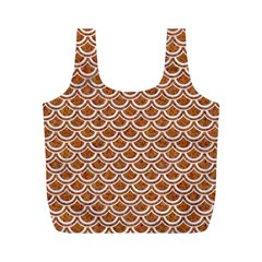 Scales2 White Marble & Rusted Metal Full Print Recycle Bags (m)  by trendistuff