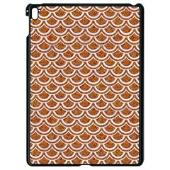 Scales2 White Marble & Rusted Metal Apple Ipad Pro 9 7   Black Seamless Case by trendistuff