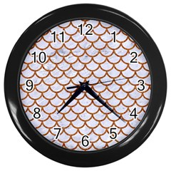 Scales1 White Marble & Rusted Metal (r) Wall Clocks (black) by trendistuff