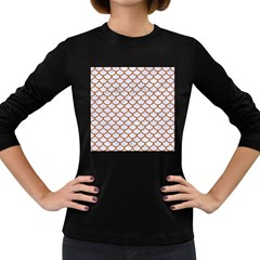 Scales1 White Marble & Rusted Metal (r) Women s Long Sleeve Dark T Shirts by trendistuff