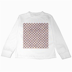 Scales1 White Marble & Rusted Metal (r) Kids Long Sleeve T Shirts by trendistuff