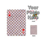 SCALES1 WHITE MARBLE & RUSTED METAL (R) Playing Cards 54 (Mini)  Front - Heart5
