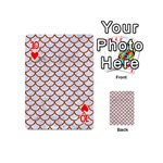 SCALES1 WHITE MARBLE & RUSTED METAL (R) Playing Cards 54 (Mini)  Front - Heart10
