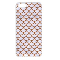 Scales1 White Marble & Rusted Metal (r) Apple Iphone 5 Seamless Case (white) by trendistuff