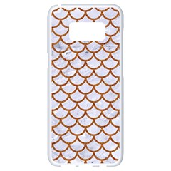 Scales1 White Marble & Rusted Metal (r) Samsung Galaxy S8 White Seamless Case by trendistuff