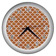 Scales1 White Marble & Rusted Metal Wall Clocks (silver)  by trendistuff