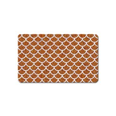 Scales1 White Marble & Rusted Metal Magnet (name Card) by trendistuff