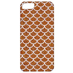Scales1 White Marble & Rusted Metal Apple Iphone 5 Classic Hardshell Case by trendistuff