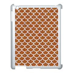 Scales1 White Marble & Rusted Metal Apple Ipad 3/4 Case (white) by trendistuff