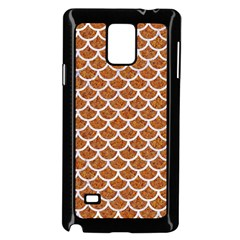 Scales1 White Marble & Rusted Metal Samsung Galaxy Note 4 Case (black) by trendistuff