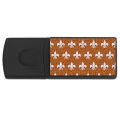 Royal1 White Marble & Rusted Metal (r) Rectangular Usb Flash Drive by trendistuff