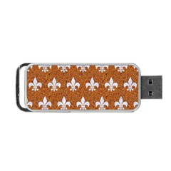 Royal1 White Marble & Rusted Metal (r) Portable Usb Flash (two Sides) by trendistuff