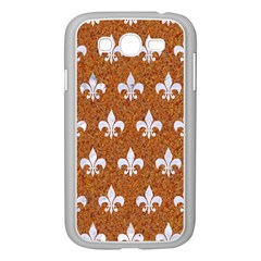 Royal1 White Marble & Rusted Metal (r) Samsung Galaxy Grand Duos I9082 Case (white) by trendistuff