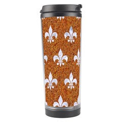 Royal1 White Marble & Rusted Metal (r) Travel Tumbler by trendistuff