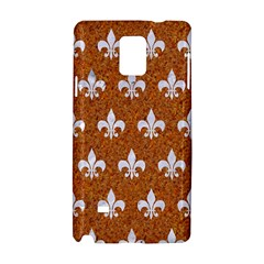 Royal1 White Marble & Rusted Metal (r) Samsung Galaxy Note 4 Hardshell Case