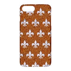 Royal1 White Marble & Rusted Metal (r) Apple Iphone 7 Plus Hardshell Case by trendistuff