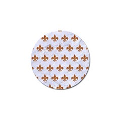 Royal1 White Marble & Rusted Metal Golf Ball Marker (10 Pack) by trendistuff