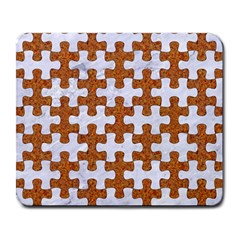 Puzzle1 White Marble & Rusted Metal Large Mousepads by trendistuff