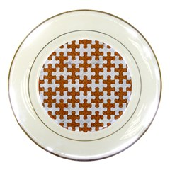 Puzzle1 White Marble & Rusted Metal Porcelain Plates by trendistuff